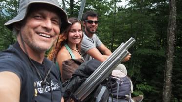 """""""Selfie"""" del Junco Team subiendo la montaña en telesilla!"""
