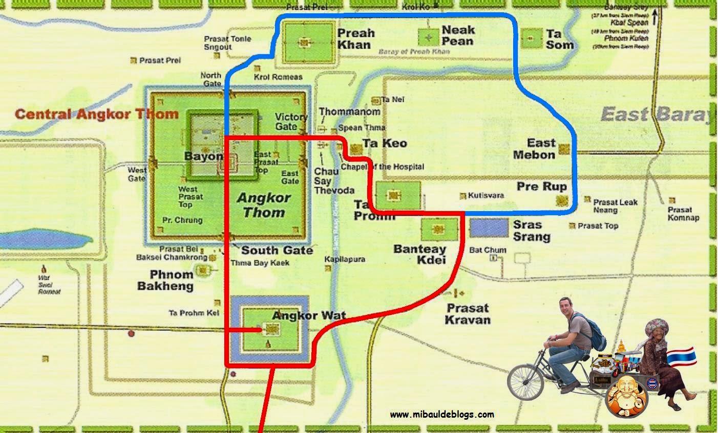 Resultat d'imatges de mapa angkor wat
