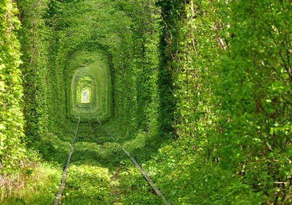 El Túnel del Amor en Ucrania