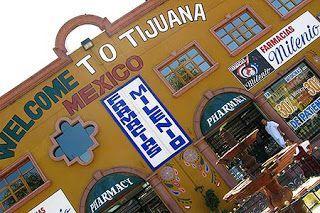 La frontera de Tijuana, México