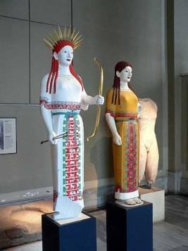 Koré y Diana, Acrópolis de Atenas