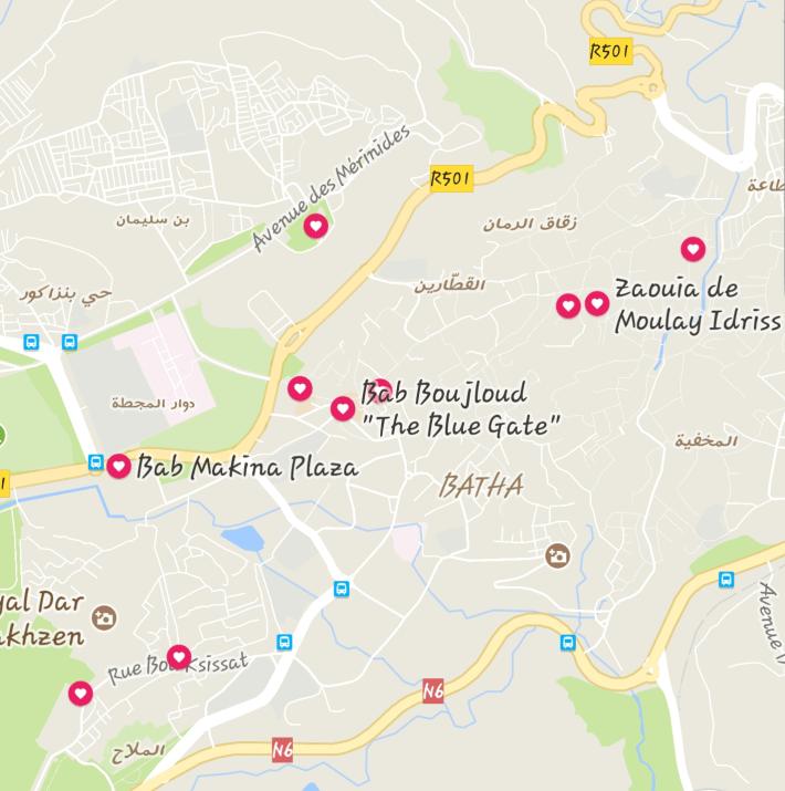 Mapa Fez (Marruecos)