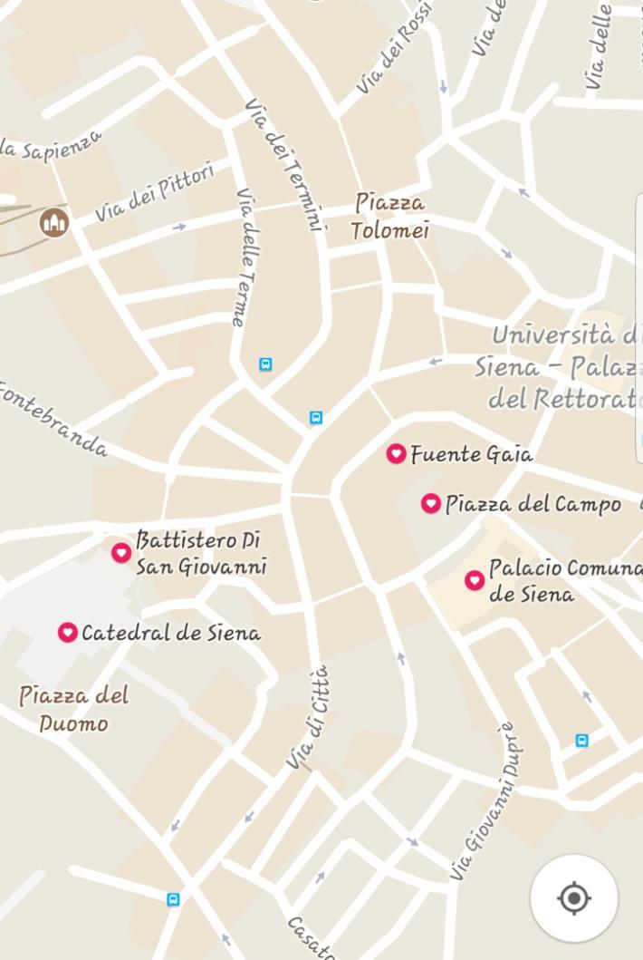 Mapa Googlemaps Siena