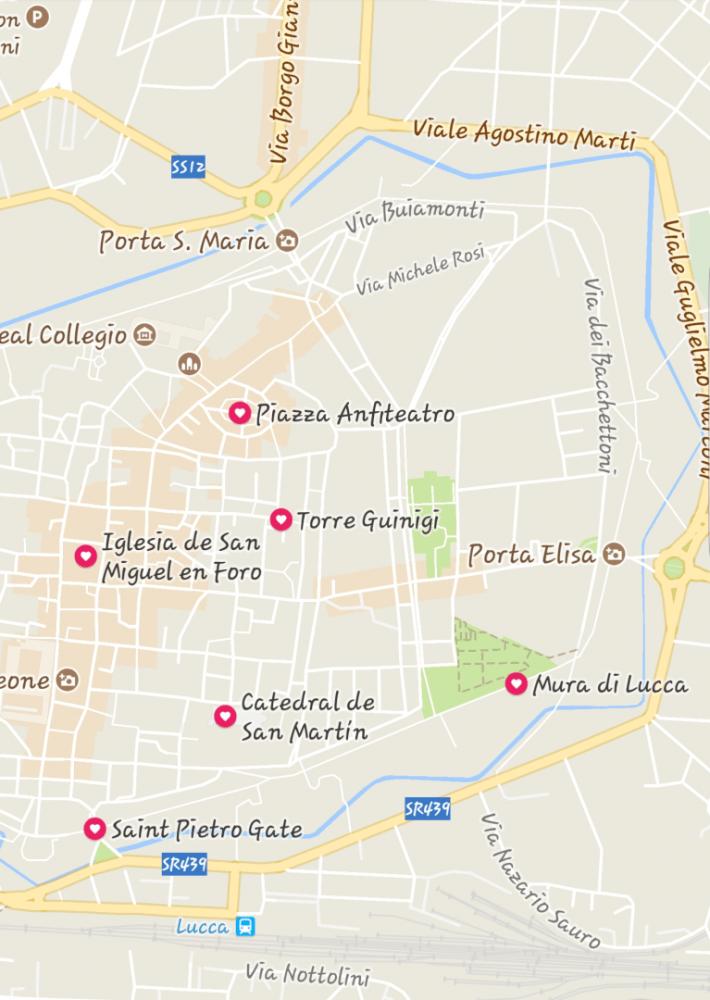 Mapa Lucca
