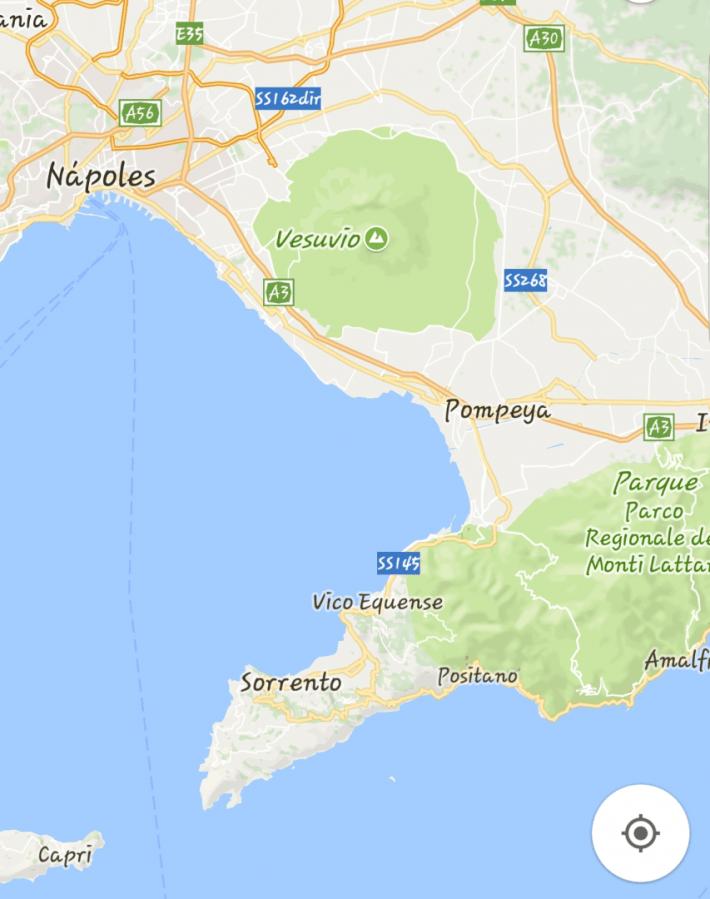 Mapa Pompeya (Italia)