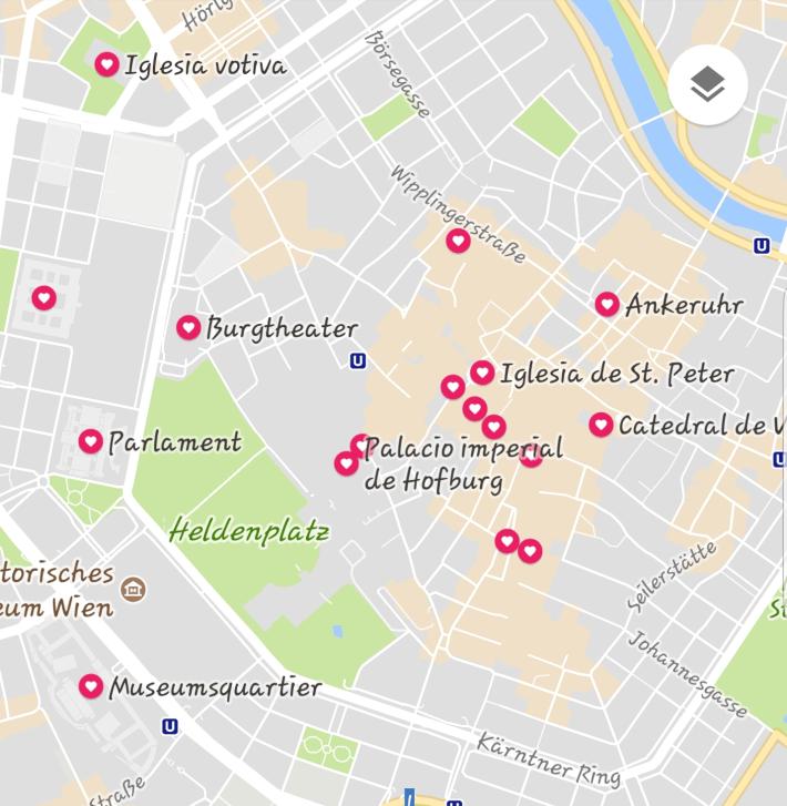 Mapa Viena (Austria)