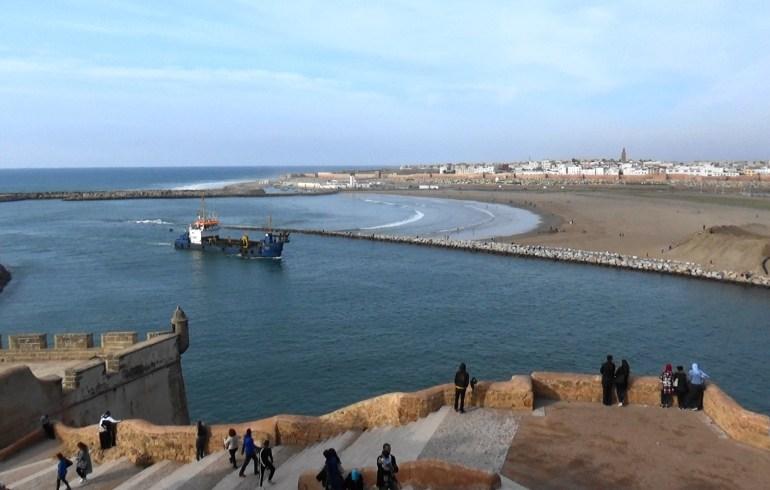 Vistas del río Bu Regreg y al fondo Salé desde la Kasbah de los Oudayas. Rabat (Marruecos)