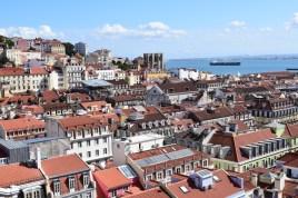 Vistas desde lo alto del Elevador de Santa Justa. Lisboa (Portugal)