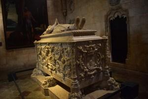 Tumba Vasco da Gama, en el Mosteiro dos Jerónimos. Lisboa (Portugal)