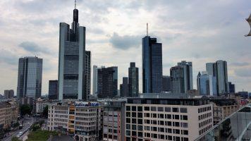 Vistas desde la terraza del Centro Comercial My Zeil. Frankfurt (Alemania)