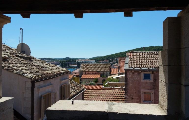 Vistas desde la torre de la casa de Marco Polo. Kórcûla (Croacia)