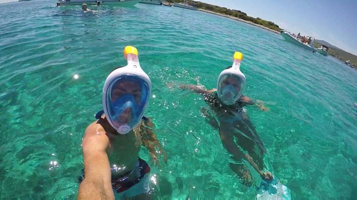 Snorkel en Blue Lagoon, Drvenik Veli (Croacia)