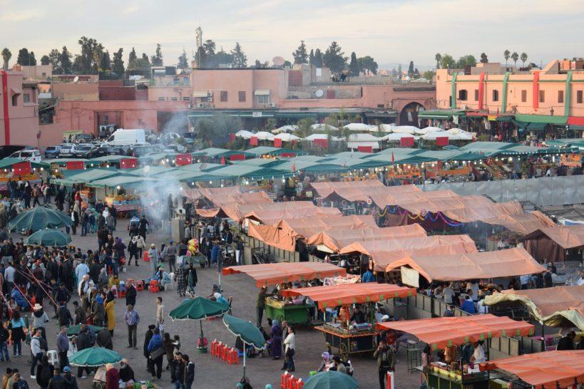 Plaza Djemaael Fna, Marrakech (Marruecos)