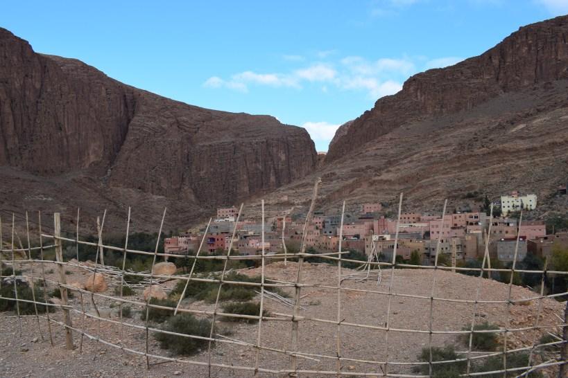 Vistas de Tizgui desde la Kasbah Tighremt N Tazgue. Tizgui (Marruecos)