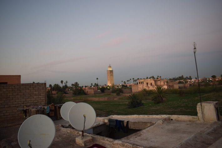 Vistas desde el Riad, Marrakech (Marruecos)