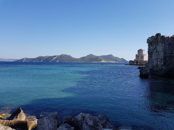 Al fondo la isla de Sapienza, Methoni (Grecia)