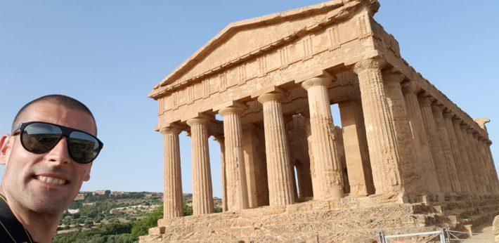 Templo de la Concordia, Valle de los Templos, en Agrigento, Sicilia (Italia)