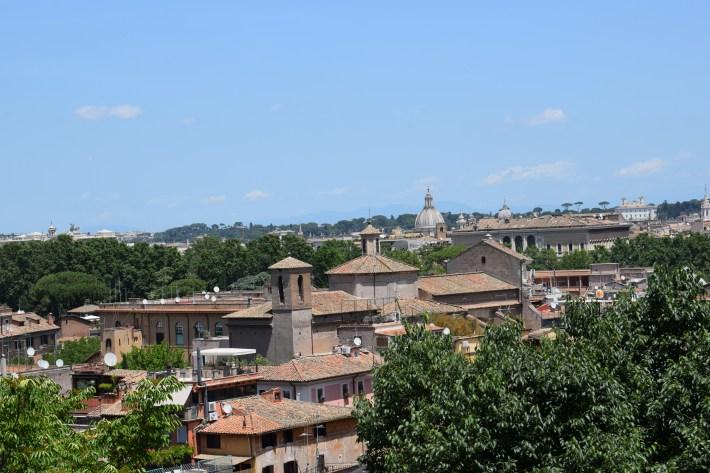 Vistas desde el Gianícolo, Roma (Italia)