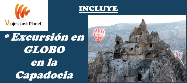 Cartel Ruta Autocaravana Grecia y Turquía Excursión en globo Capadocia