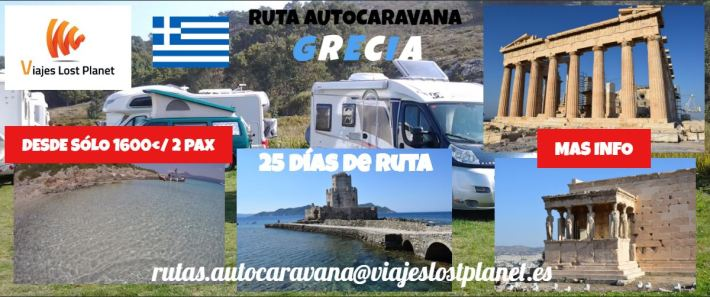Cartel Ruta autocaravana Expedición Grecia Portada
