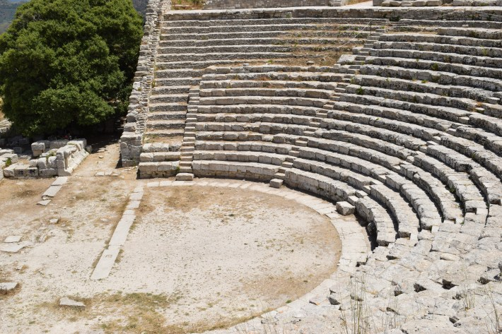 Teatro griego, Segesta, Sicilia (Italia)