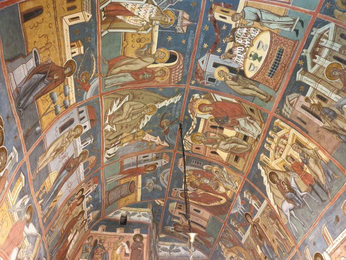 Interior del Monasterio de Humor, Bucovina (Rumanía)