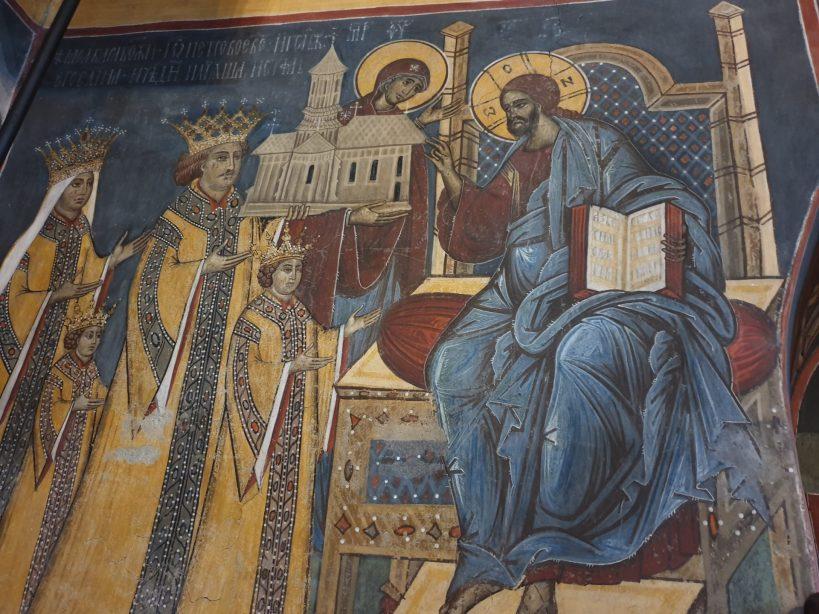 Interior del Monasterio de Moldovita, Bucovina (Rumanía)