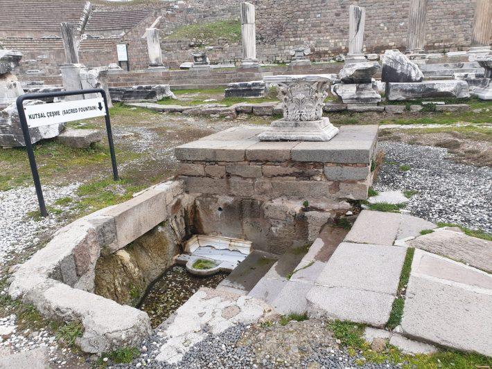 Pozo Sagrado, Asclepeion, Pérgamo, Bergama (Turquía)