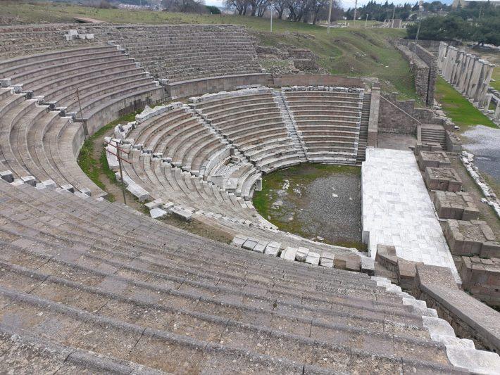 Teatro y la  Stoa, Asclepeion, Pérgamo, Bergama (Turquía)
