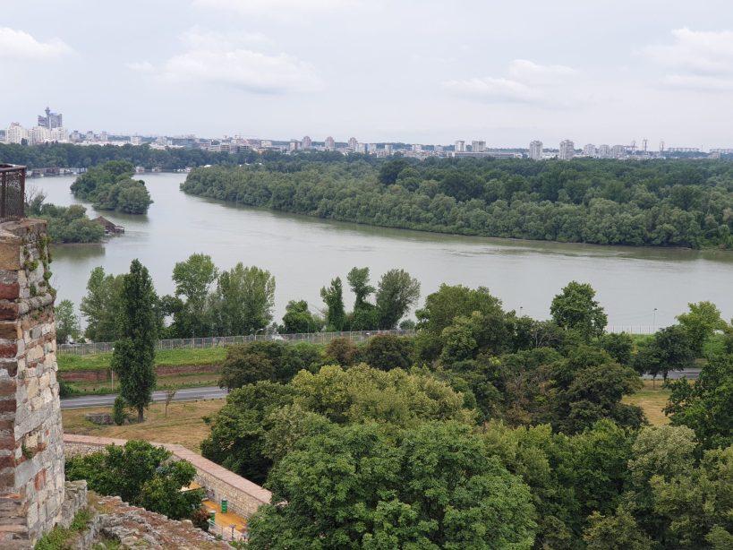 Vistas desde la Fortaleza de Belgrado, Kalemegdan (Serbia)