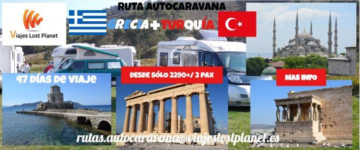 Cartel Ruta autocaravana Grecia y Turquia
