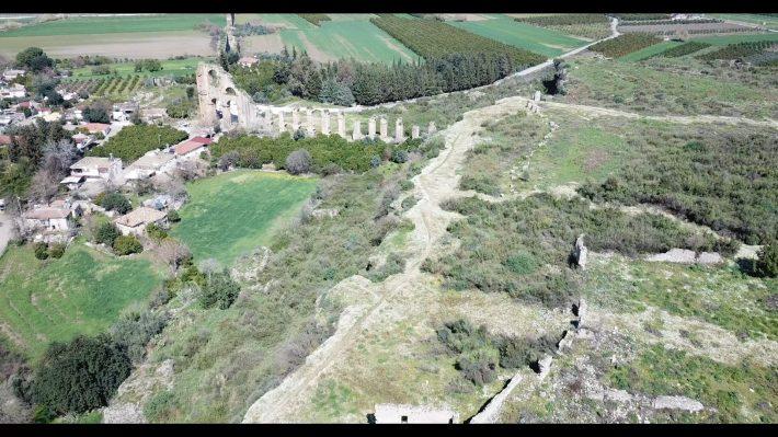 Vistas del Acueducto de Aspendos (Turquía)
