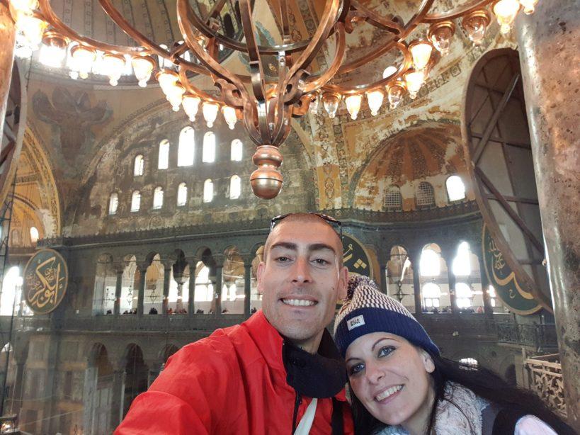 En las galerías superiores de la Basílica de Santa Sofía, Estambul (Turquía)