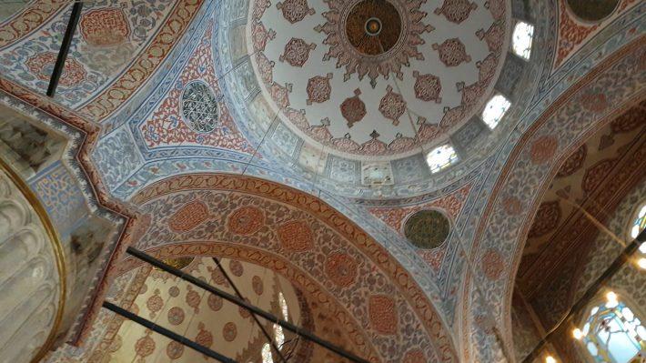 Interior de la Mezquita Azul, Estambul (Turquía)