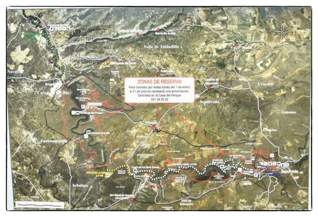 Mapa-del-Parque-Natural-de-las-Hoces-del-río-Duratón