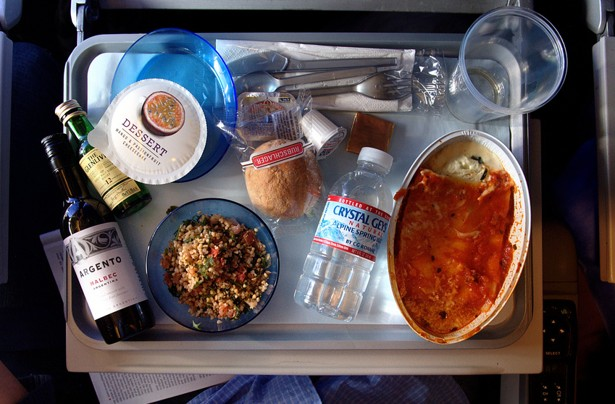comida de avión