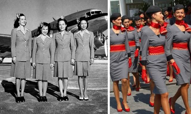 como-ha-cambiado-el-uniforme-de-las-sobrecargos-desde-1940-hasta-la-actualidad