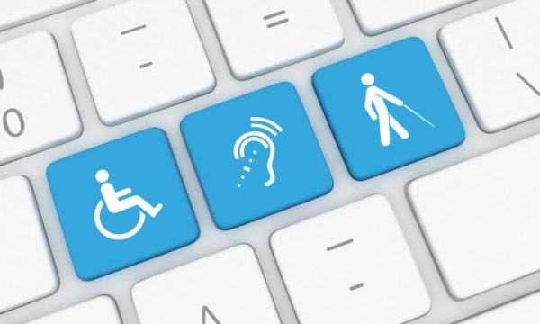 Illustration - Fiktivt tastatur med knapper som hjælp for personer med udfordringer