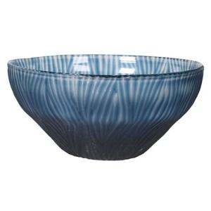Royal blue glass bowl