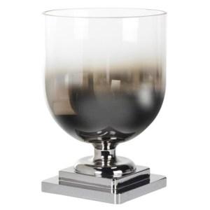 Smoked glass hurricane jar