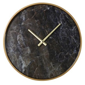 Black and gold marble effect clock