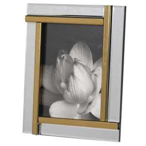 Gold and mirrored panel photograph frame