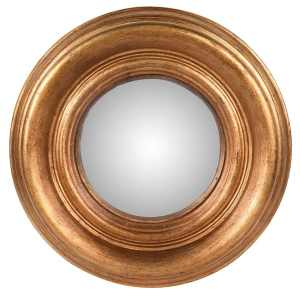 Brushed gold convex mirror (small)