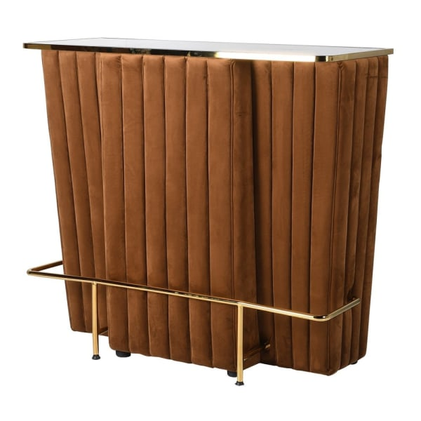 Caramel deco velvet home bar