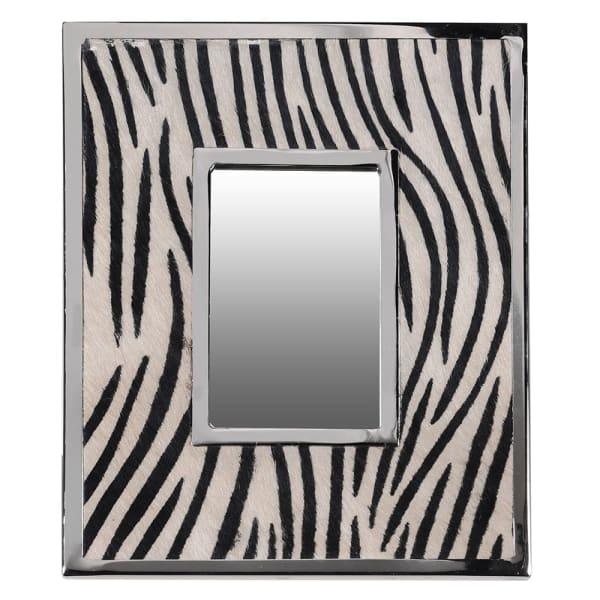 Zebra print table mirror (large)