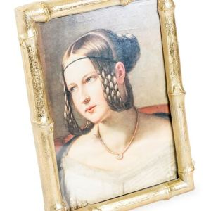 Antique gold bamboo frame (small)