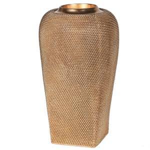 Gold beaded vase