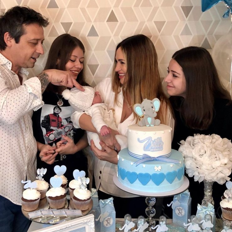 Belén Francese celebró el primer mes de su hijo Vitto.