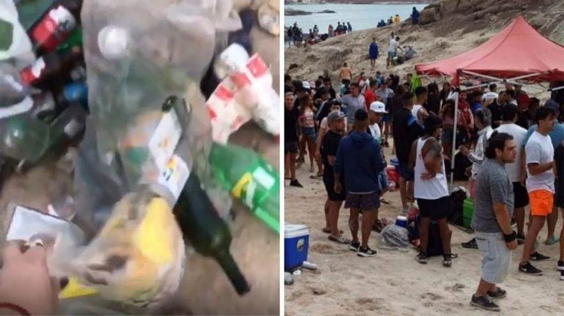 Los jóvenes coparon Potrerillos el fin de semana y volvió el problema de la basura al Dique