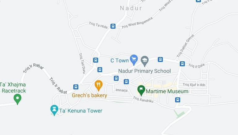 Nadur, Gozo - Kartta